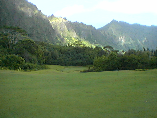Ko'olau Golf Course.  Not a bad place to be right now.