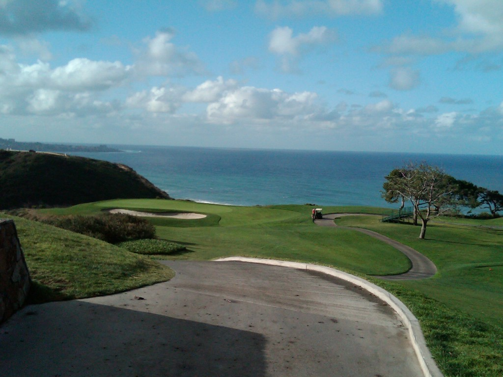 Torrey Pines (South) 3rd hole.  Nothing is needed here except you.