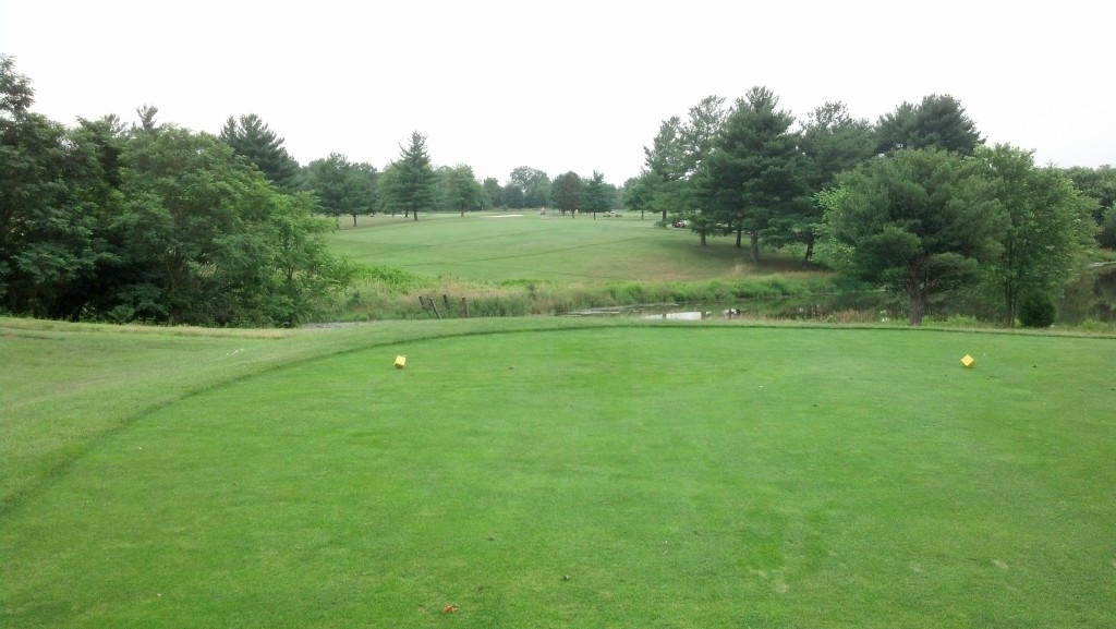 11th Hole at Poolesville.  Don't miss short.  Or left.  Or right.  Just aim for the flag.