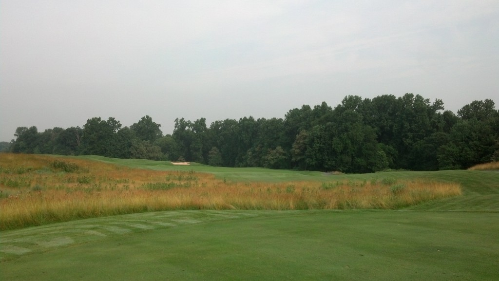 Hampshire Greens 10th Hole.  Choose your line wisely.