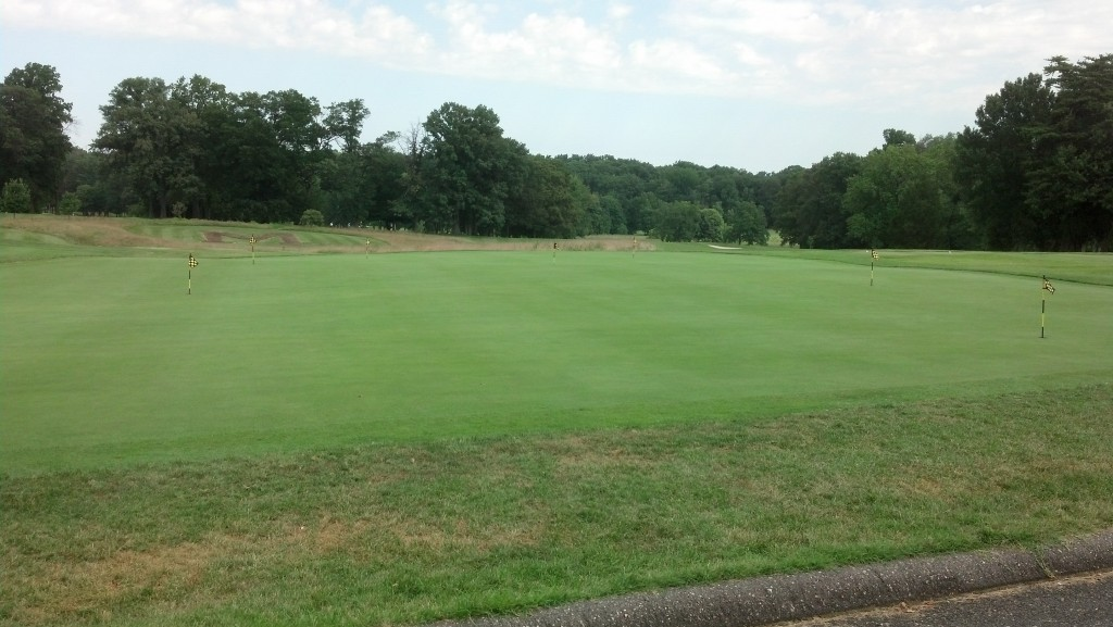 Where three putts should go to die at the practice green at UMD.