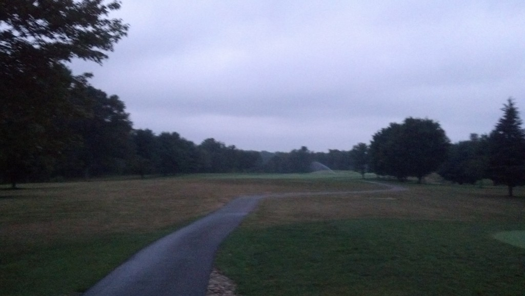 I can see the fairway and the sprinklers. Good to go.