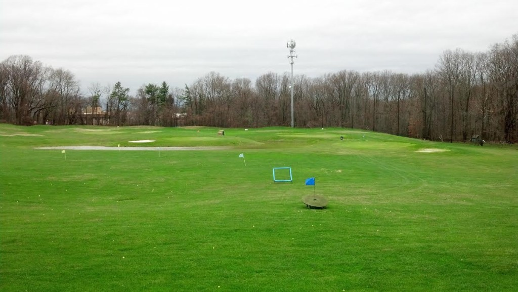 My view from my hitting bay at Olney Golf Park.