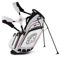 Example of a stand bag with shoulder straps.  Wear it just like a backpack.