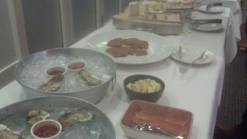 Oysters, tartare, and a great cheese plate. Far better than your standard golf grill fare.