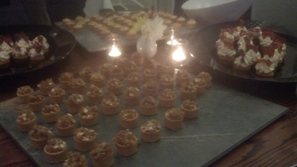 Those are cupcakes topped with bacon. I did manage to NOT eat all of them.