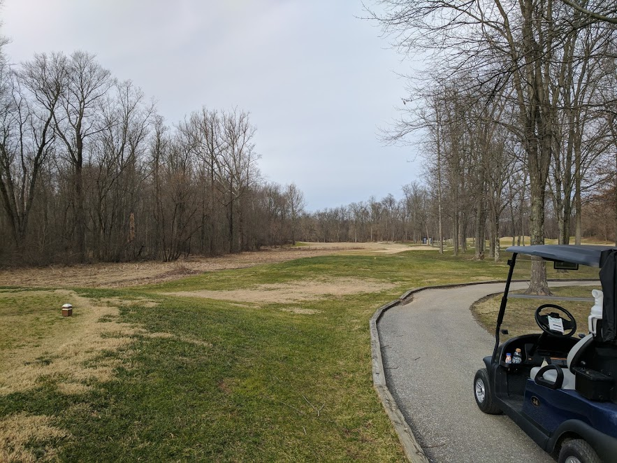 5th hole at Fairway Hills. Still needs a clown's mouth.