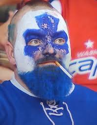 Leafs Dart Guy from last night (a dart is a cigarette, i.e. heater, health stick) who became a Twitter celebrity.  Love this.