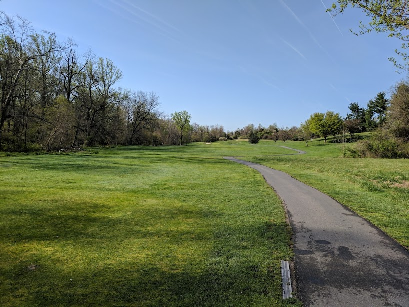 5th hole at Northwest Park. Twas a brutal hole location today in the back.