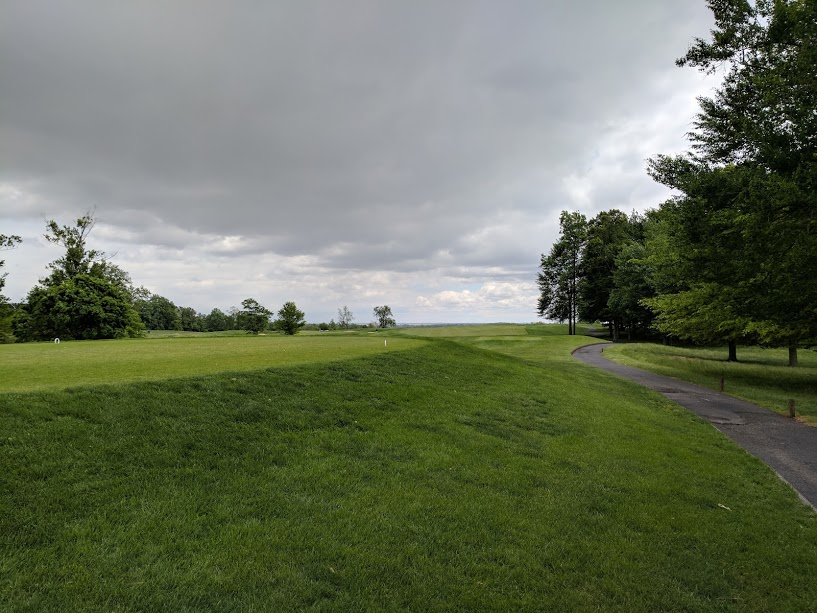 From the 10th tee at Bulle Rock. Just find the fairway and ignore the bunkers, waste area and wind.