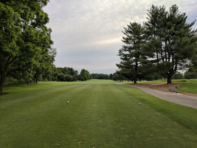 6th Hole at Needwood GC. Straight is the way to go.